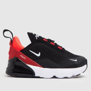 Nike Black & Red Air Max 270 Unisex Toddler