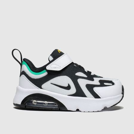 nike white & black air max 200 trainers toddler