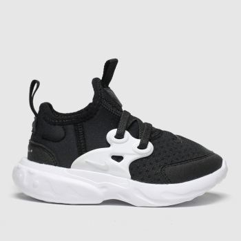 Nike Black & White Presto React Unisex Toddler
