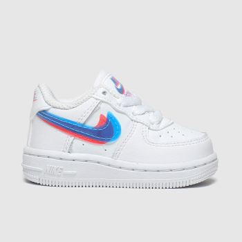 Nike White & Blue Air Force 1 Lv8 Ksa Unisex Toddler