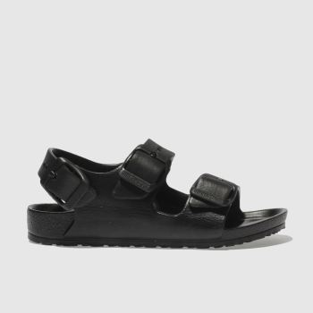 BIRKENSTOCK BLACK MILANO EVA TODDLER SANDALS