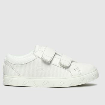 lacoste white straightset trainers toddler