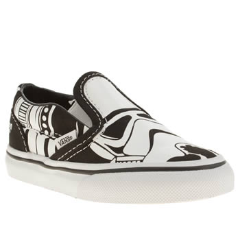 7366cecfafae45 Kids Unisex white   black vans cl slip-on star wars trainers