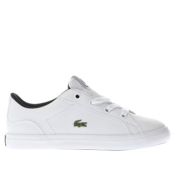 LACOSTE WHITE LEROND TODDLER TRAINERS