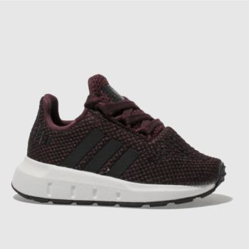 ADIDAS BURGUNDY SWIFT RUN TRAINERS TODDLER