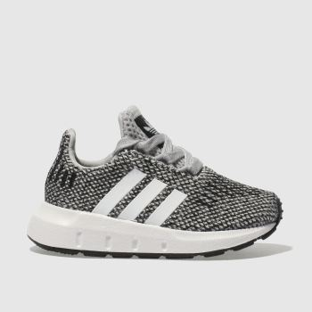 ADIDAS LIGHT GREY SWIFT RUN TRAINERS TODDLER