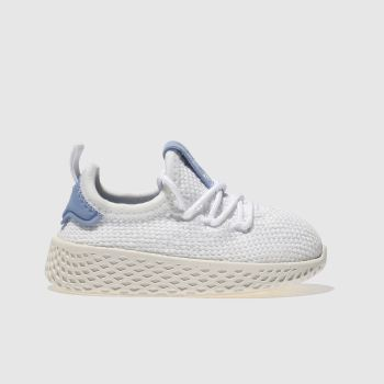 Adidas White & Blue PHARRELL WILLIAMS TENNIS HU Unisex Toddler