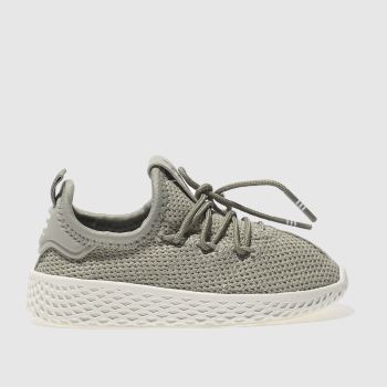 ADIDAS KHAKI TENNIS HU TRAINERS TODDLER