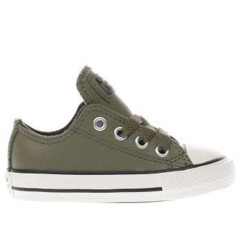 Converse Khaki All Star Lo Leather Unisex Toddler
