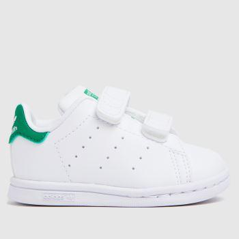 adidas White & Green Stan Smith 2v Unisex Toddler