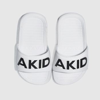 akid white & black aston trainers toddler