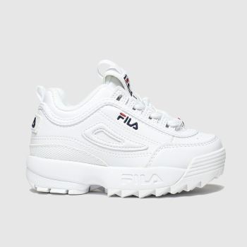 Fila White Disruptor Ii Unisex Toddler