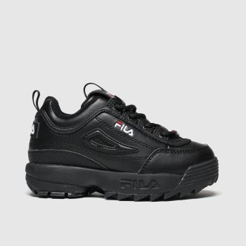 Fila Black Disruptor Ii Unisex Toddler