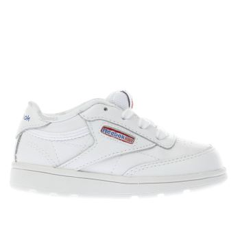 REEBOK WHITE CLUB C 85 TODDLER TRAINERS