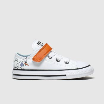 Converse White & Orange All Star 1v Lo Frozen Ii Unisex Toddler