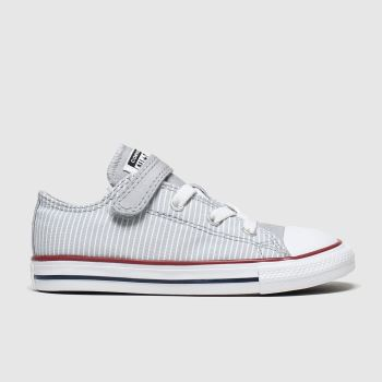 Converse Light Grey 1v Lo Pinstripe Unisex Toddler