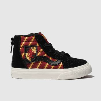 Vans Black & Red Hp Gryffindor Sk8-Hi Unisex Toddler