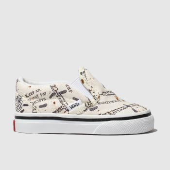 Vans White & Beige Hp Marauders Map Classic Slip Unisex Toddler