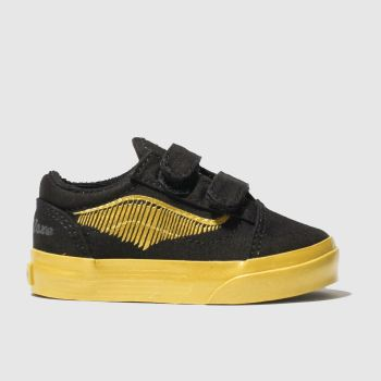 Vans Black & Gold Hp Golden Snitch Old Skool Unisex Toddler