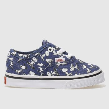Vans Navy Authentic Peanuts Snoopy Unisex Toddler