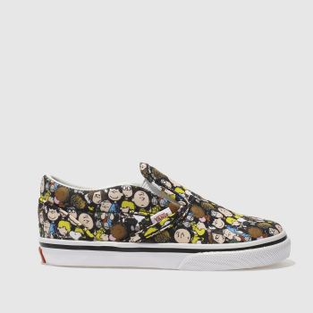 Vans Black & Yellow Slip-On Peanuts The Gang Unisex Toddler