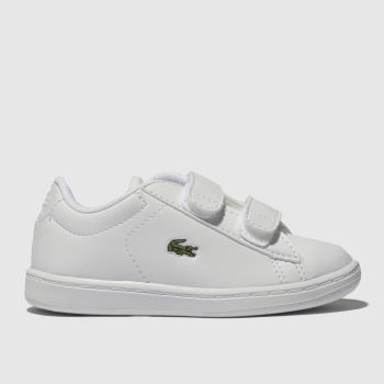 Lacoste White & Green Carnaby Evo Unisex Toddler#