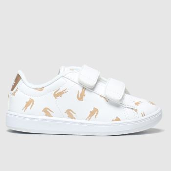 Lacoste White & Gold Carnaby Evo Unisex Toddler