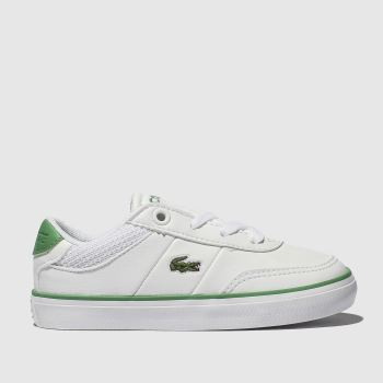 Lacoste White & Green COURT-MASTER Unisex Toddler