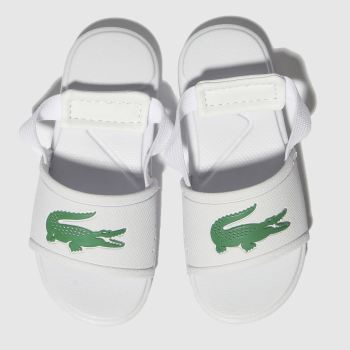 Lacoste White & Green L.30 Slide Unisex Toddler
