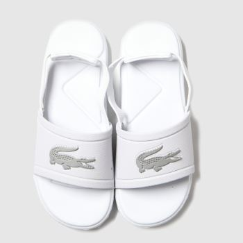 Lacoste White & Silver L.30 Slide Unisex Toddler