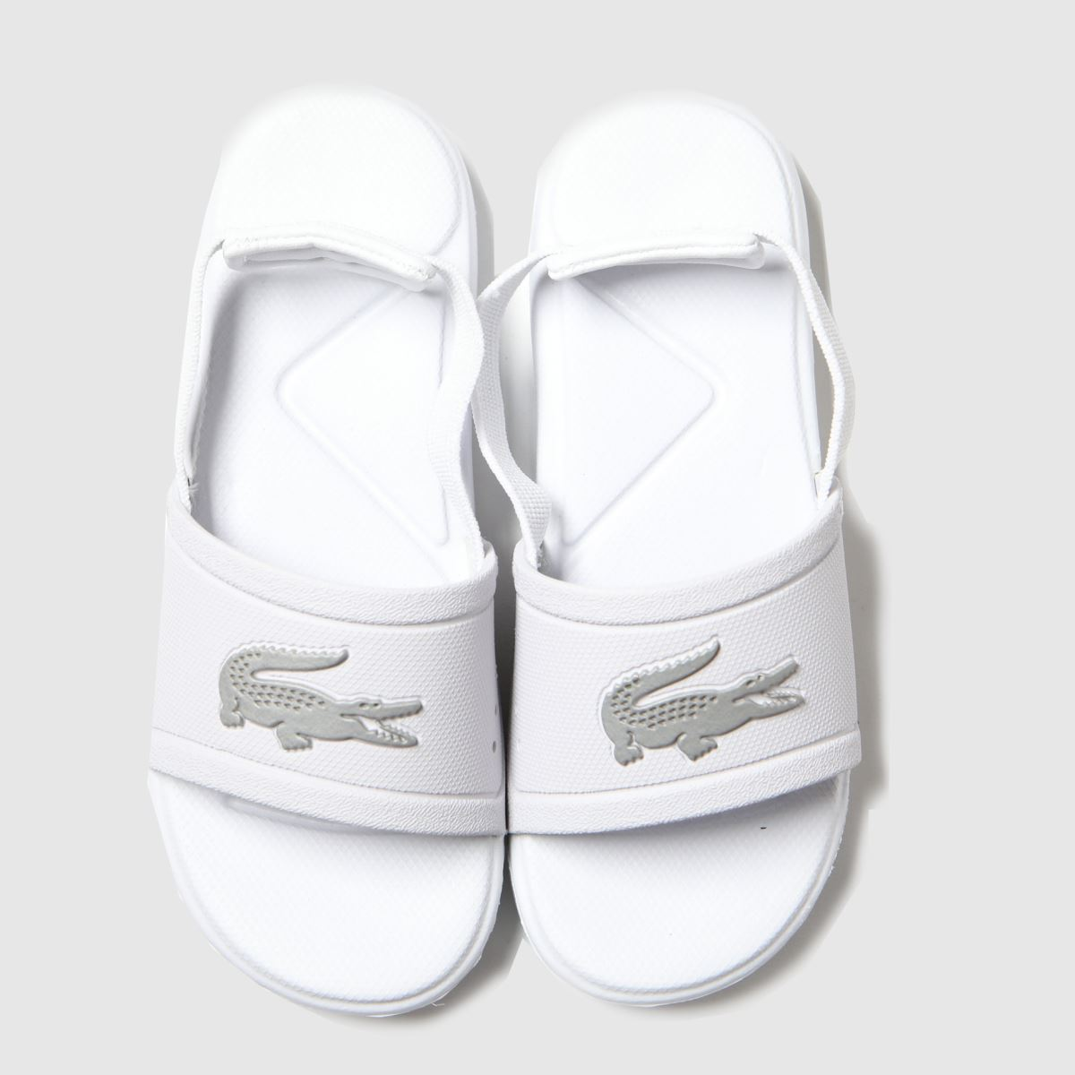 Lacoste White & Silver L.30 Slide Trainers Toddler
