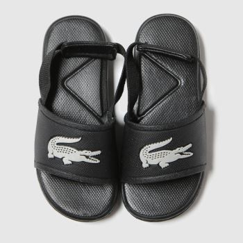 Lacoste Black & Silver L.30 Slide Unisex Toddler