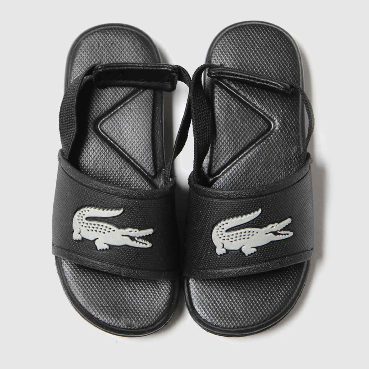 Lacoste Black & Silver L.30 Slide Trainers Toddler