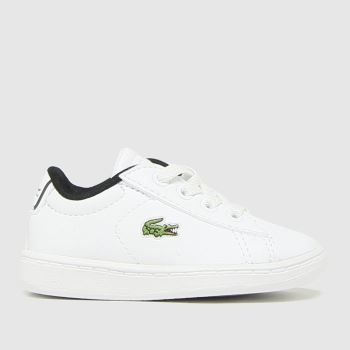 Lacoste White & Black Carnaby Evo Unisex Toddler