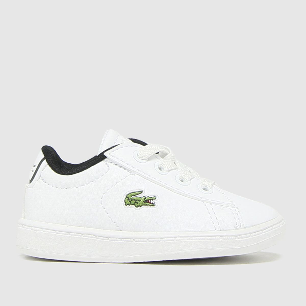 Lacoste White & Black Carnaby Evo Trainers Toddler