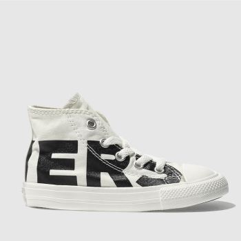 CONVERSE NATURAL ALL STAR HI WORDMARK TRAINERS TODDLER
