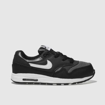Nike Black & Grey Air Max 1 Unisex Toddler