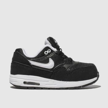 Nike Black & White Air Max 1 Unisex Toddler