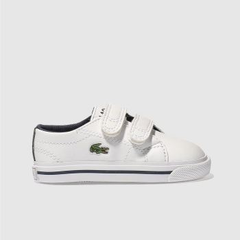 LACOSTE WHITE & NAVY RIBERAC TRAINERS TODDLER