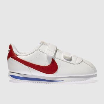 Nike White & Red Cortez Classic Unisex Toddler#