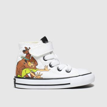 Converse White & Brown All Star 1v Hi Scooby Unisex Toddler#