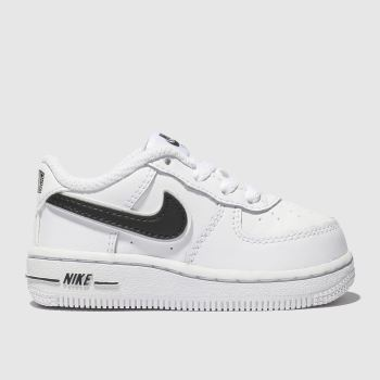 Nike White & Black Air Force 1-3 Unisex Toddler