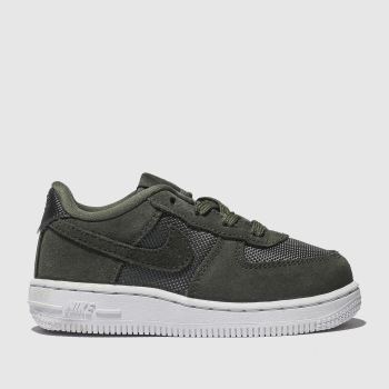 nike khaki air force 1-1 trainers toddler