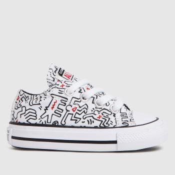 Converse White & Black Low Keith Haring Unisex Toddler