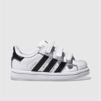 adidas White & Black Superstar Foundation Unisex Toddler#