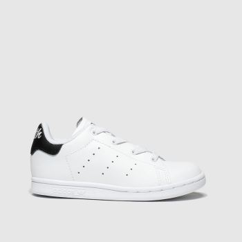 adidas white & black stan smith trainers toddler
