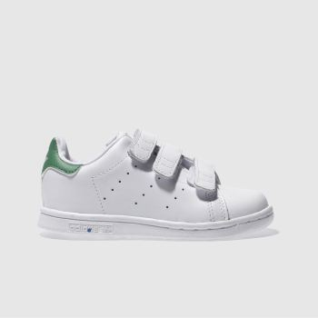 Adidas White & Green Stan Smith Unisex Toddler#