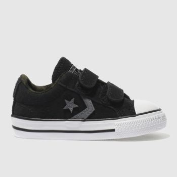 Converse Black & Grey Star Player 2V Unisex Toddler