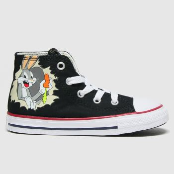 Converse Black & White Hi Bugs 80th Unisex Toddler
