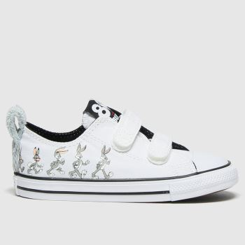 Converse White & grey 2v Lo Bugs 80th Unisex Toddler